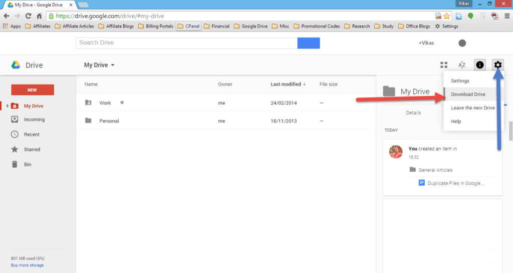using-google-drive-app